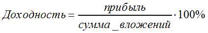 формула доходности №1