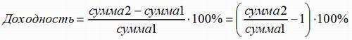 формула доходности №2